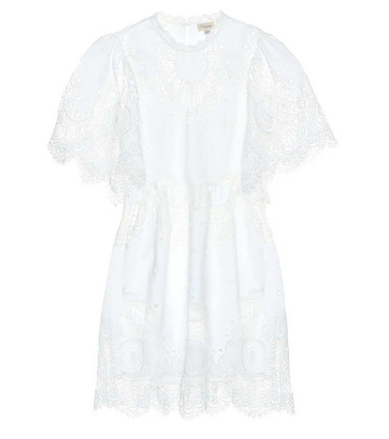 Temperley London Judy embroidered lace minidress in white