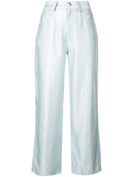 Fleur Du Mal straight-leg trousers in blue