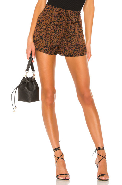 MAJORELLE Kimberly Shorts in brown