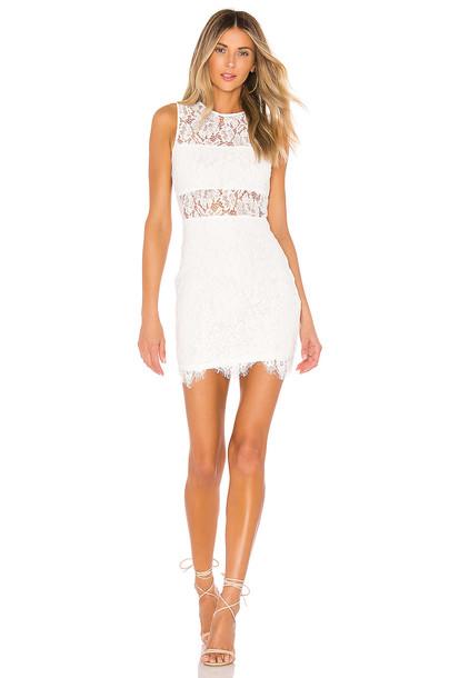 superdown Suri Sleeveless Mini Dress in white