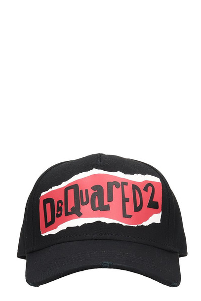 Dsquared2 Black Cotton Hat