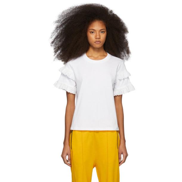 McQ Alexander McQueen White Babydoll T-Shirt