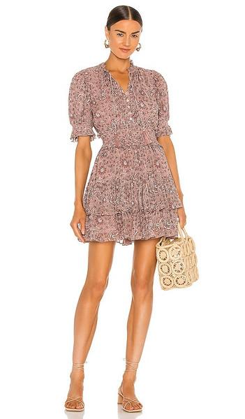 Cleobella Madelyn Mini Dress in Mauve in print