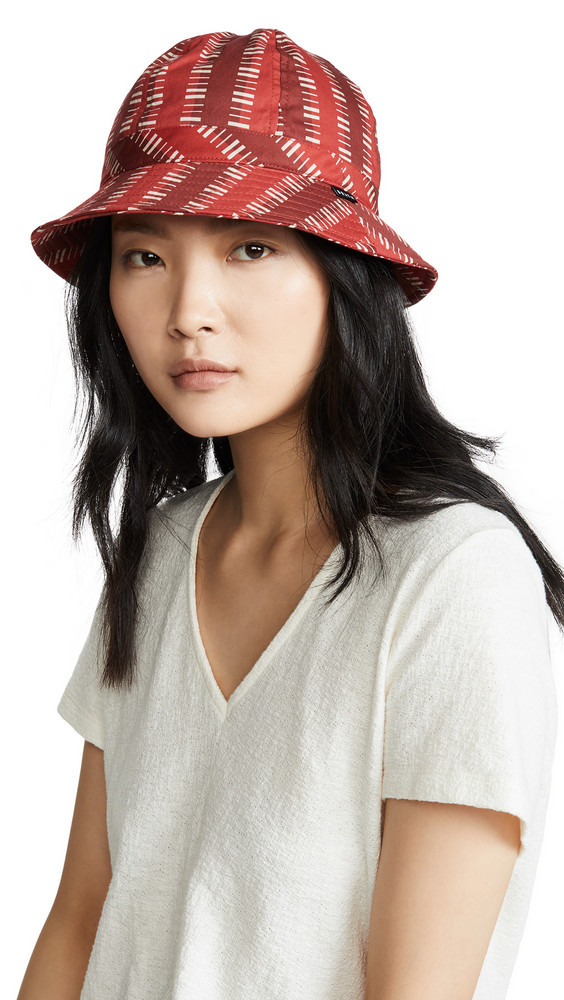 Brixton Banks Bucket Hat in red