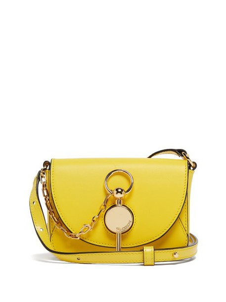 Jw Anderson - Nano Keyts Leather Cross Body Bag - Womens - Yellow