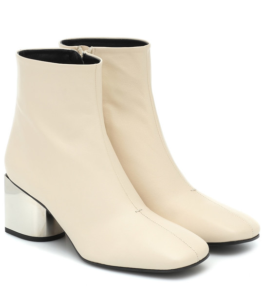 Proenza Schouler Leather ankle boots in beige