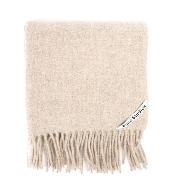 Acne Studios Canada Nr New Beige Melange Wool Scarf