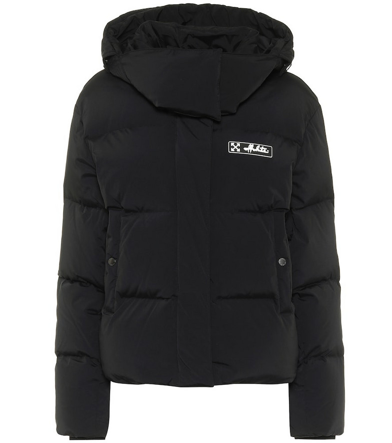 Off-White Quilted down jacket in black