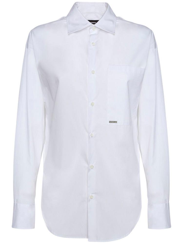 DSQUARED2 P-pkt College Cotton Poplin Shirt in white