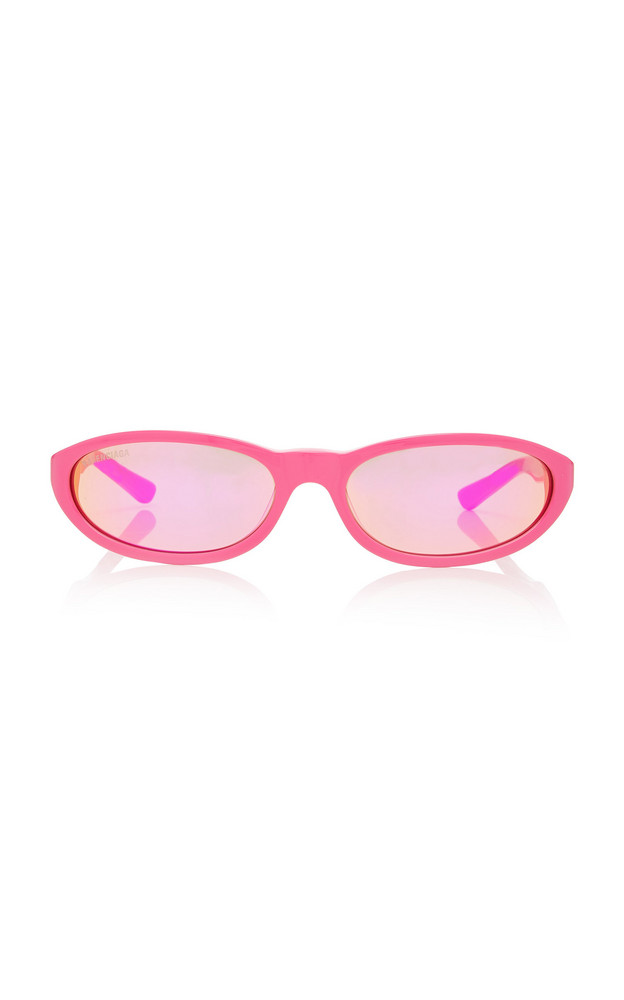 Balenciaga Sunglasses Round-Frame Acetate Sunglasses in pink