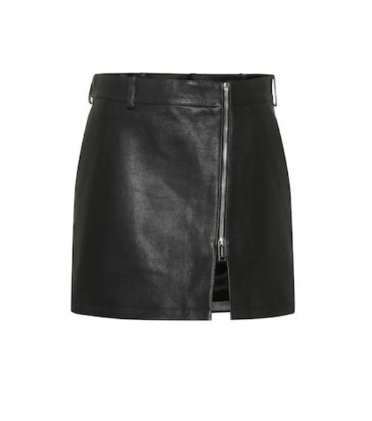 Burberry Leather miniskirt in black