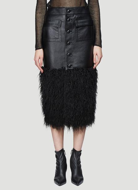 Saint Laurent Long Buttoned Skirt in Black size FR - 36