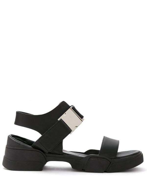 Uma - Raquel Davidowicz leather Veneto sandals in black