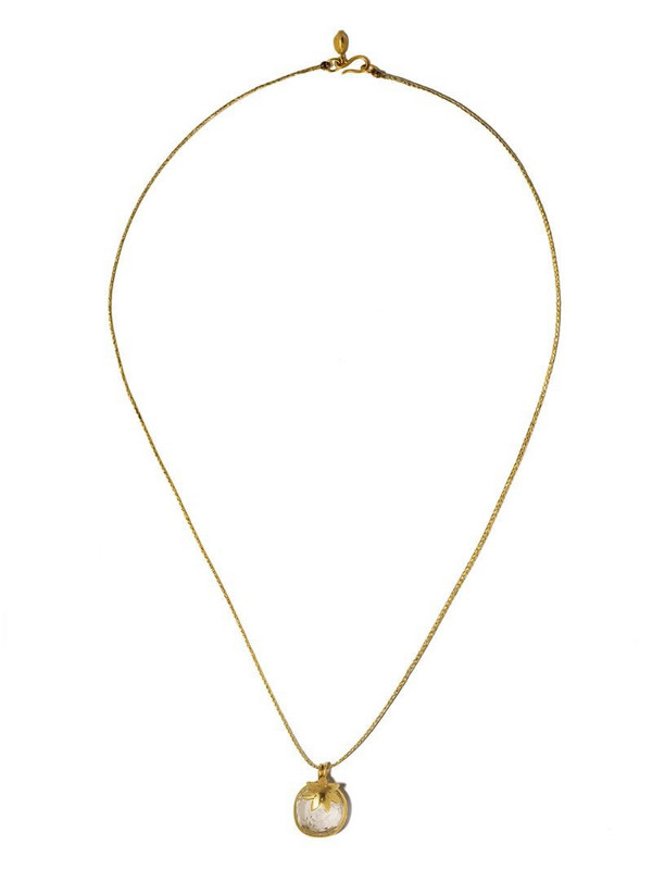 PIPPA SMALL 18kt yellow and white gold crystal Dreams Colette necklace