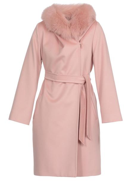 Max Mara Mango Coat in pink