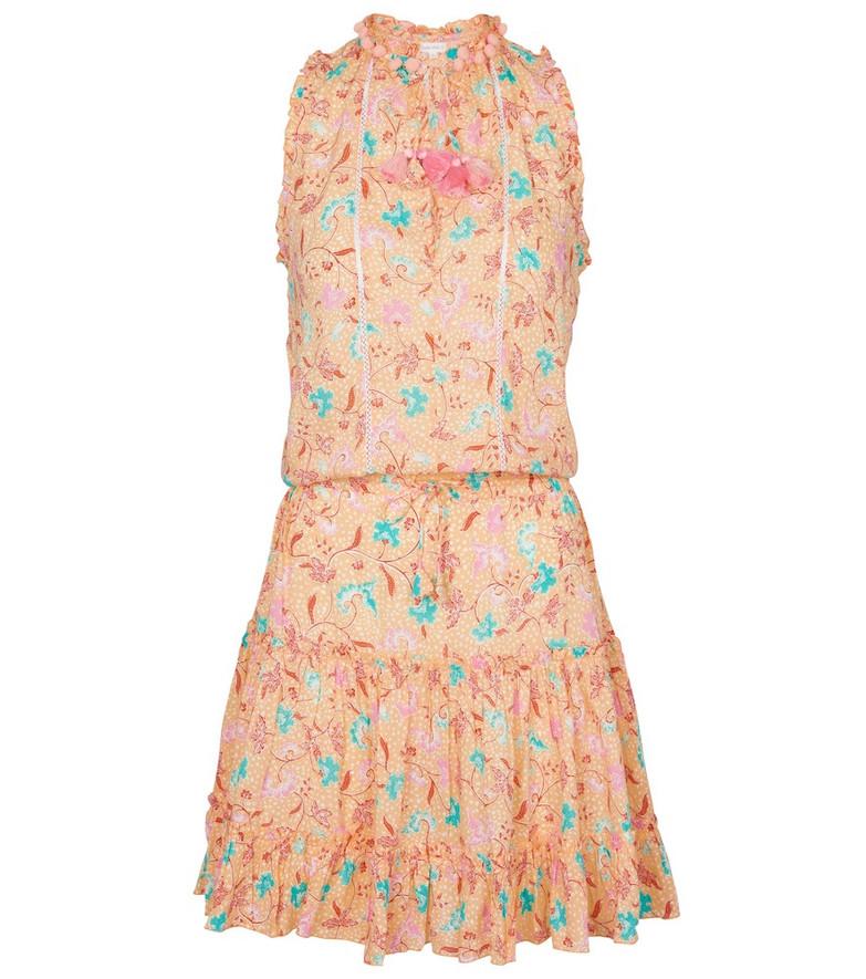 Poupette St Barth Exclusive to Mytheresa – Clara floral minidress in orange