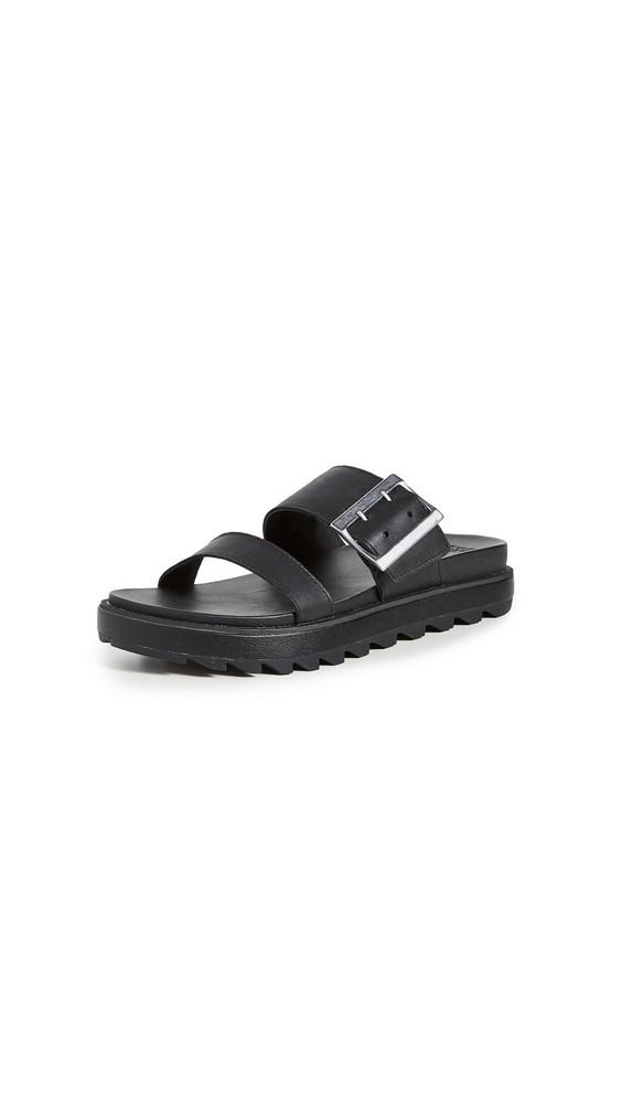 Sorel Roaming Buckle Slide Sandals in black