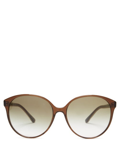 The Row - X Oliver Peoples Brooktree Acetate Sunglasses - Womens - Green