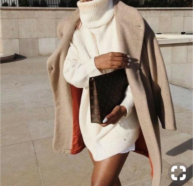 dress sweater dress wolfiecindy white dress