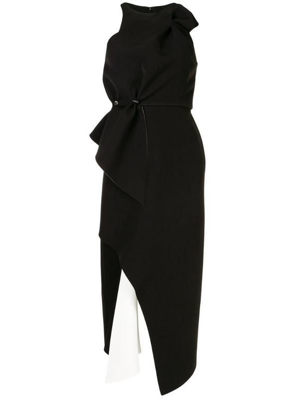Rachel Gilbert Carmine sleeveless dress in black