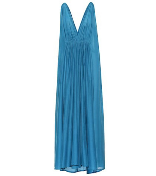 Kalita Clemence cotton and silk maxi dress in blue