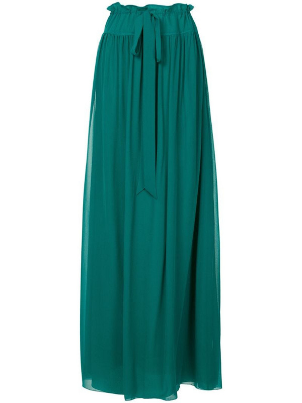 LANVIN long tie-waist skirt in green