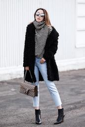 fit fab fun mom,blogger,coat,jeans,shoes,bag,sunglasses,jewels
