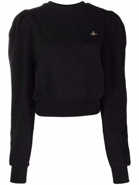Vivienne Westwood Athletic Orb-embroidered cotton sweatshirt - Black
