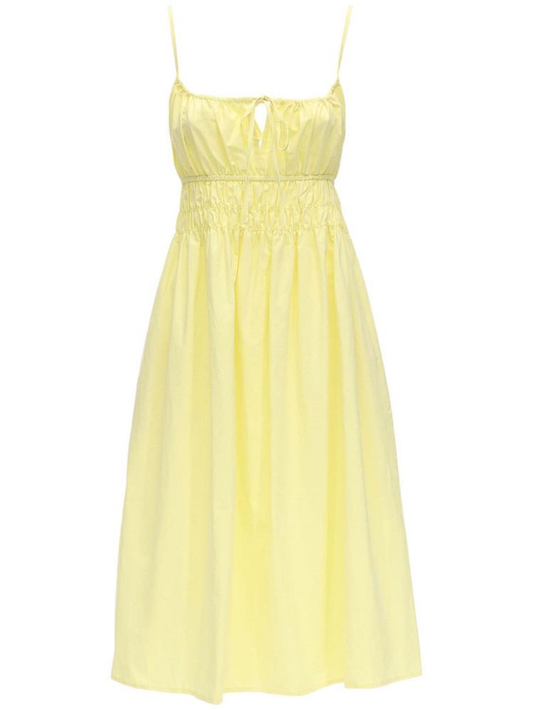 CIAO LUCIA Gabriela Cotton Poplin Midi Dress in yellow