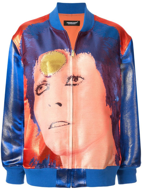 Undercover Bowie bomber jacket in blue
