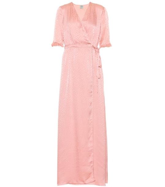 Baum und Pferdgarten Adelita dotted silk jacquard dress in pink