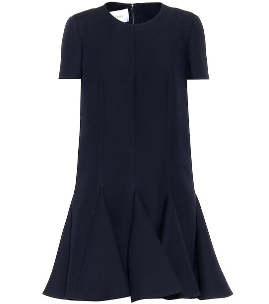 Valentino Wool and silk minidress in blue
