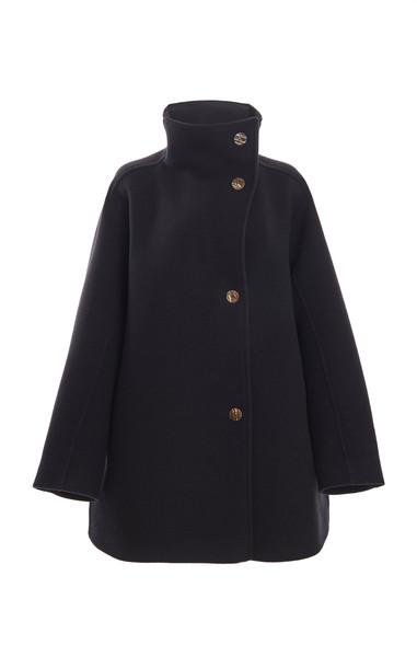 Acne Studios Oralis Funnelneck Wool-Blend Coat in black