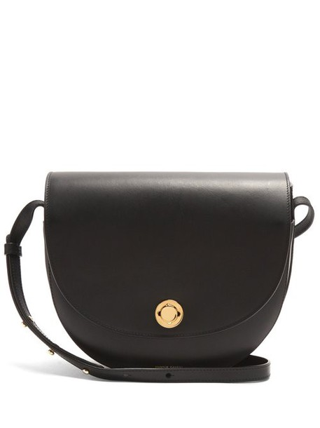 Mansur Gavriel - Saddle Leather Shoulder Bag - Womens - Black