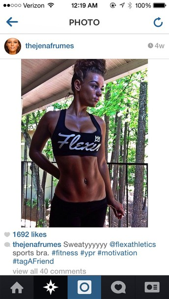 top black flexin sports bra workout fitness cute
