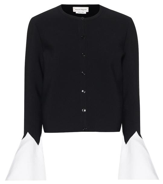 Alexander McQueen Stretch-knit cardigan in black