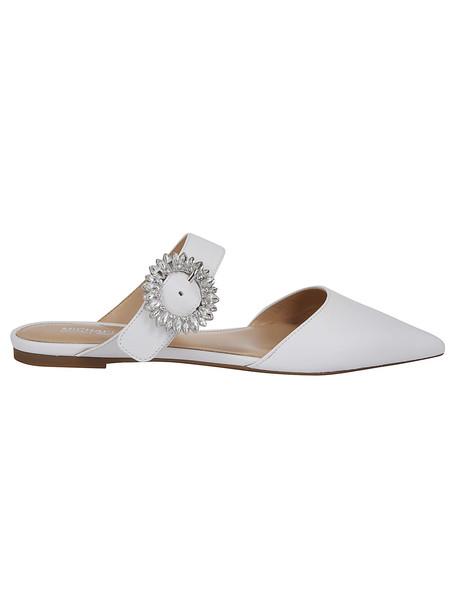 Michael Kors Crystal-embellished Sandals in white