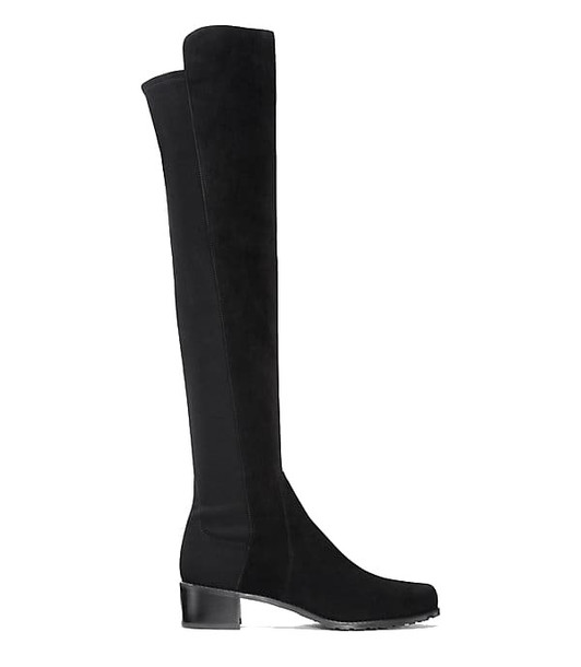 Stuart Weitzman High Boots With Elastic Band/tacco Basso in black