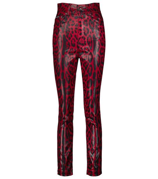 Dolce & Gabbana Stretch-cotton high-rise pants in black