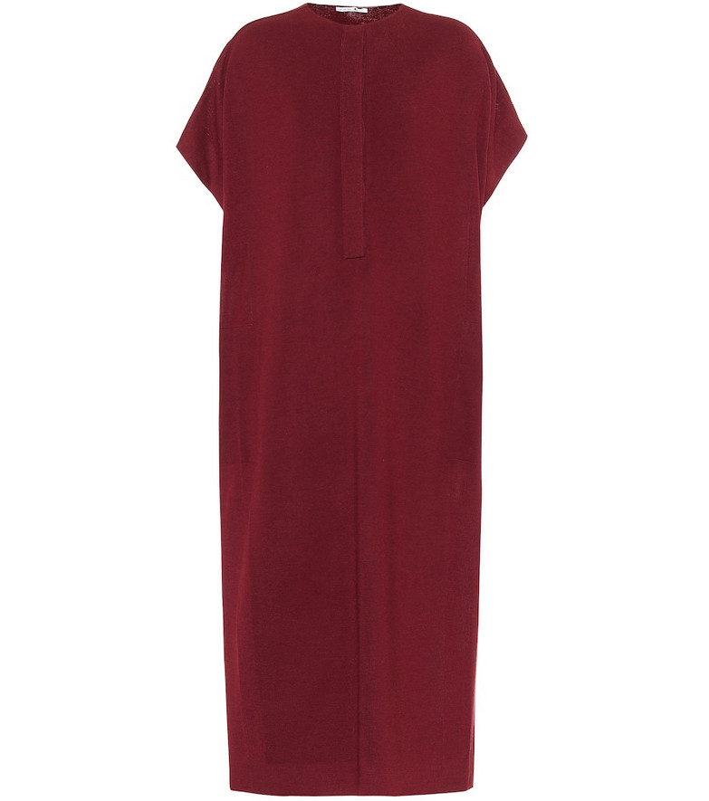Agnona Wool, silk and cashmere dress in red