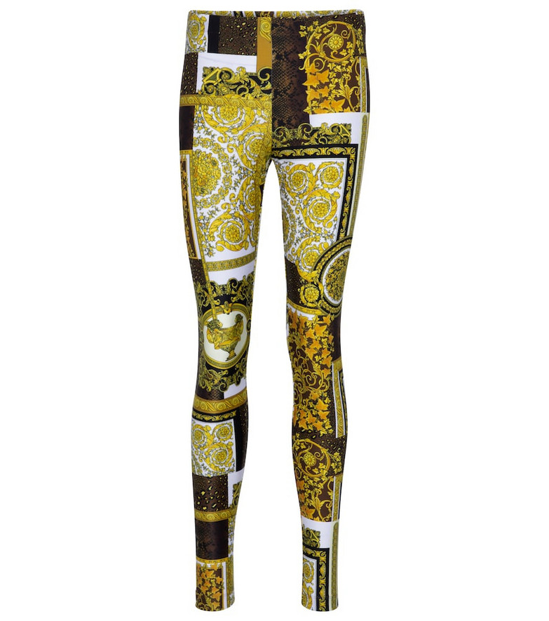 Versace Barocco printed leggings