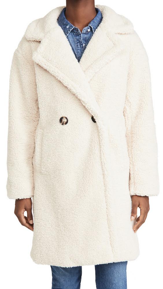 Apparis Anouck Coat in ivory