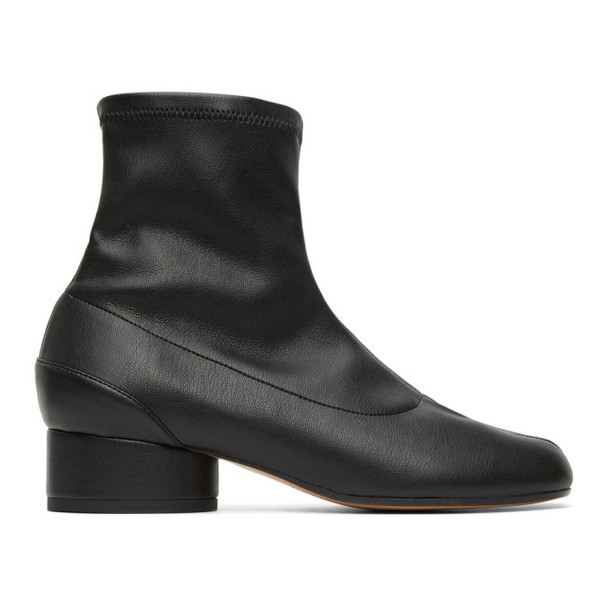 Maison Margiela Black Eco Leather Tabi Sock Boots