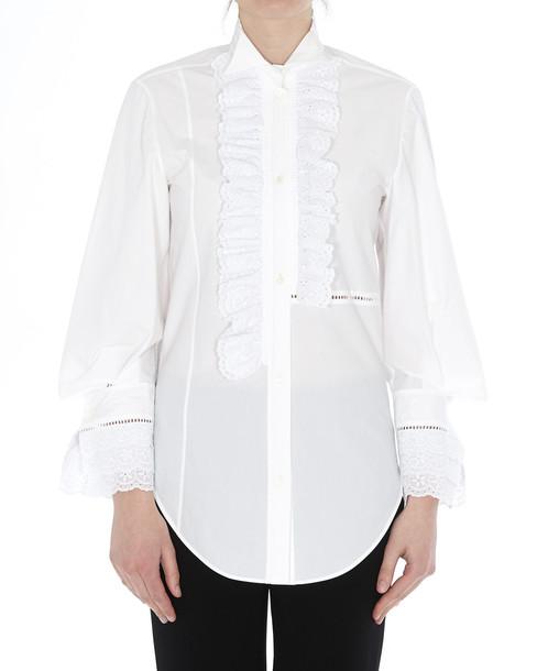 Loewe Ruffled Shirt in white