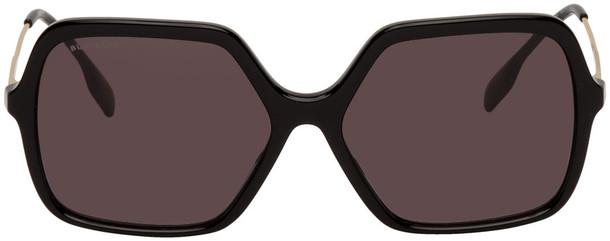 Burberry Black Square Check Accent Sunglasses