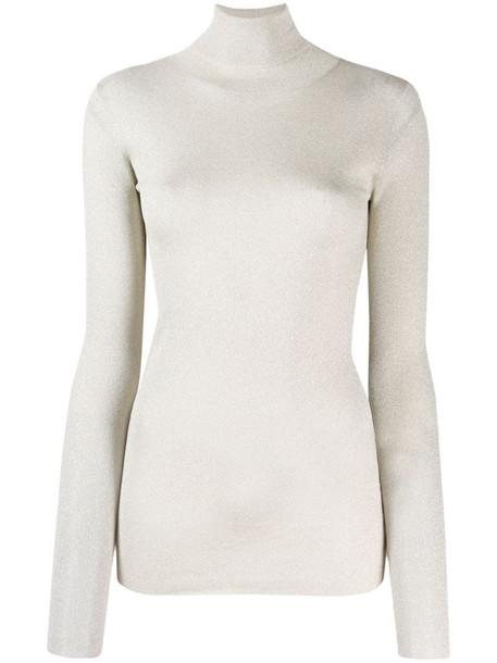 Brunello Cucinelli roll neck sweater in silver