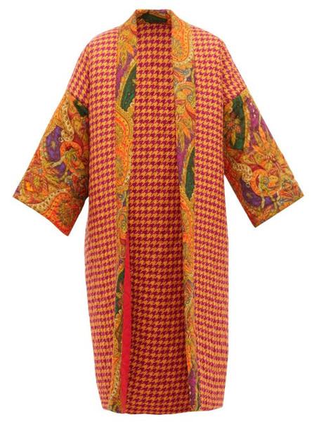 Rianna + Nina Rianna + Nina - Reversible Matelassé Wool And Silk Coat - Womens - Multi