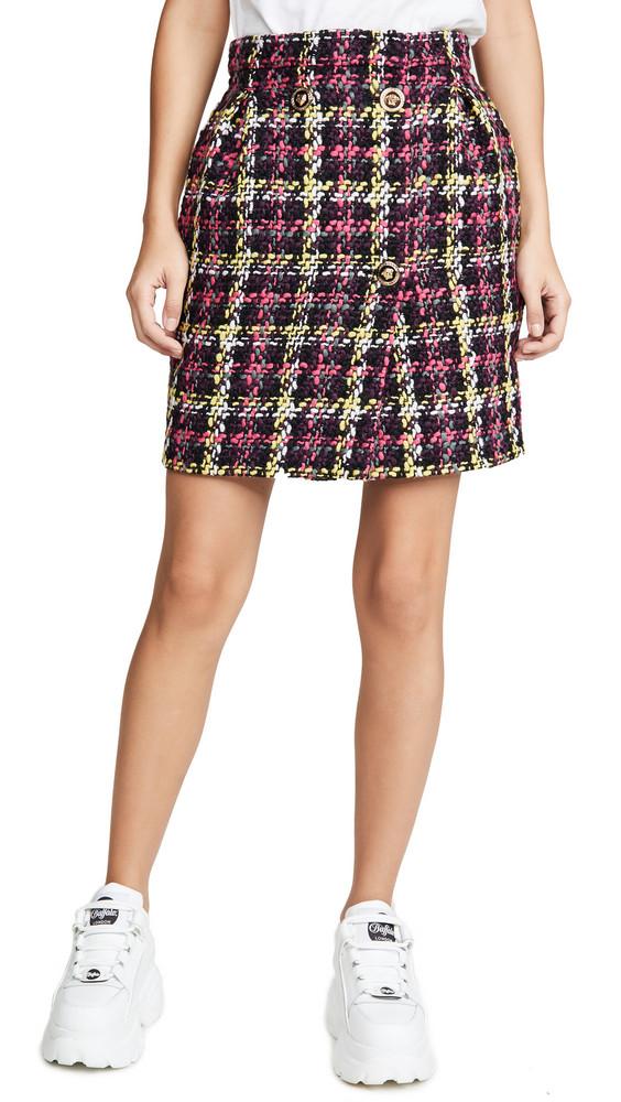 Versace Plaid Mini Skirt in multi