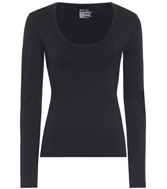 Helmut Lang Seamless scoop-neck top in black