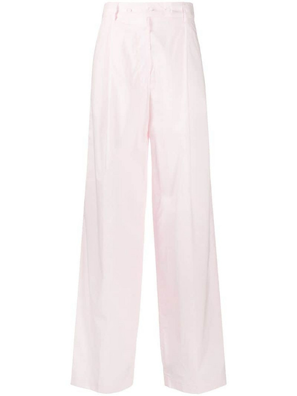Maison Flaneur high-waisted trousers in pink